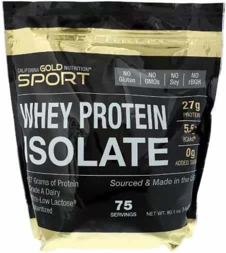 2270 грамм California Gold Nutrition изолят сывороточного протеина