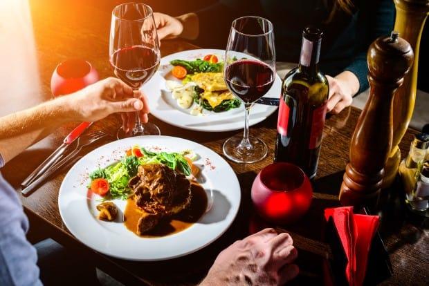 Таблица калорийности ресторанной еды