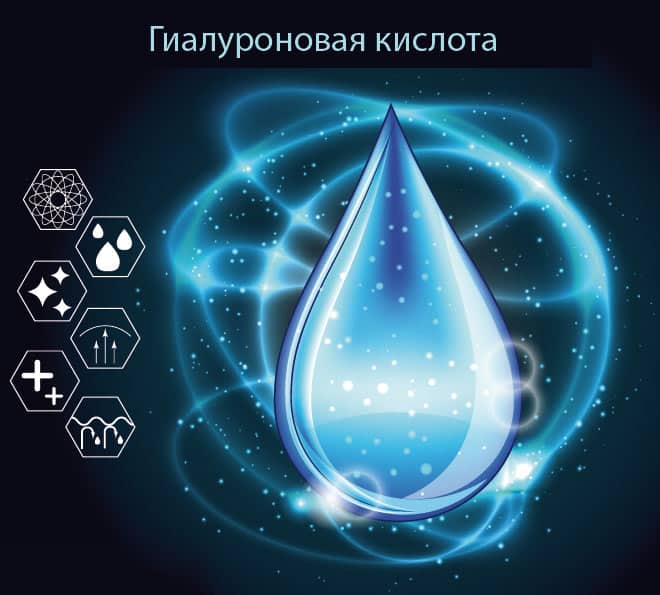 Капля гиалуроновой кислоты
