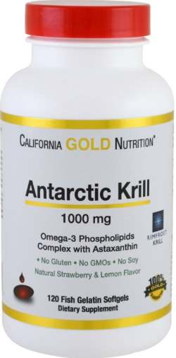 Добавка 120 капсул Antarctic Krill California Gold Nutrition