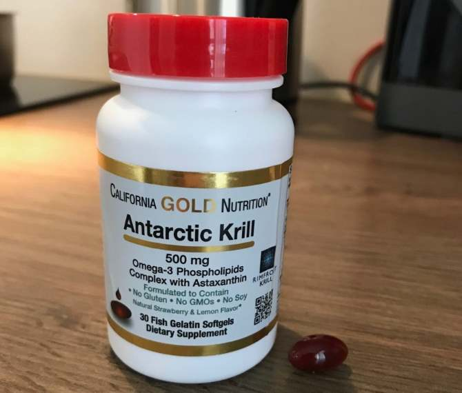 Капсулы Antarctic Krill California Gold Nutrition