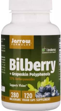 БАД Jarrow Formulas, Bilberry + Grapeskin Polyphenols