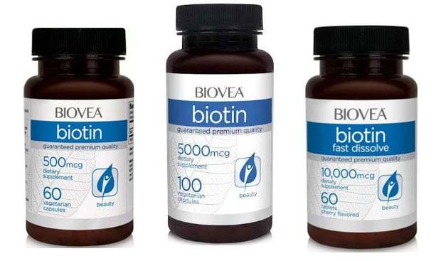 Три добавки biovea biotin
