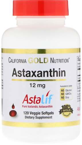 Упаковка 120 капсул California Gold Nutrition Astaxanthin