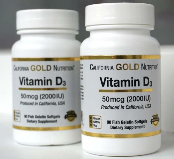 Капсулы в двух упаковках California Gold D3
