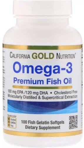 Добавка из 100 капсул Омега 3 California Gold