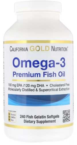 БАД из 240 капсул Омега 3 California Gold