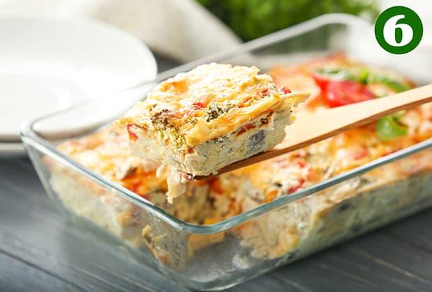 запеканка из овощей с сыром на лопатке и в форме