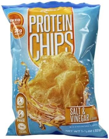 Quest Chips со вкусом соли и уксуса