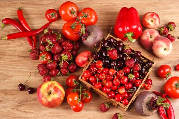 Ягоды и овощи с полифенолами