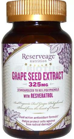 БАД Reserveage Nutrition, Grape Seed Extract