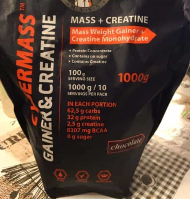 Упаковка gainer and creatine