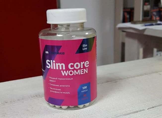 Упаковка добавки slim core women