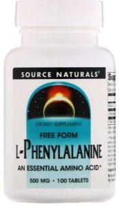 Добавка Source Naturals, L-фенилаланин