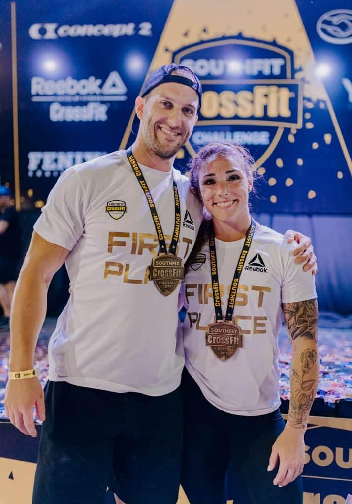 Победители SouthFit CrossFit Challenge Бетани Шадборн и Пит Шоу
