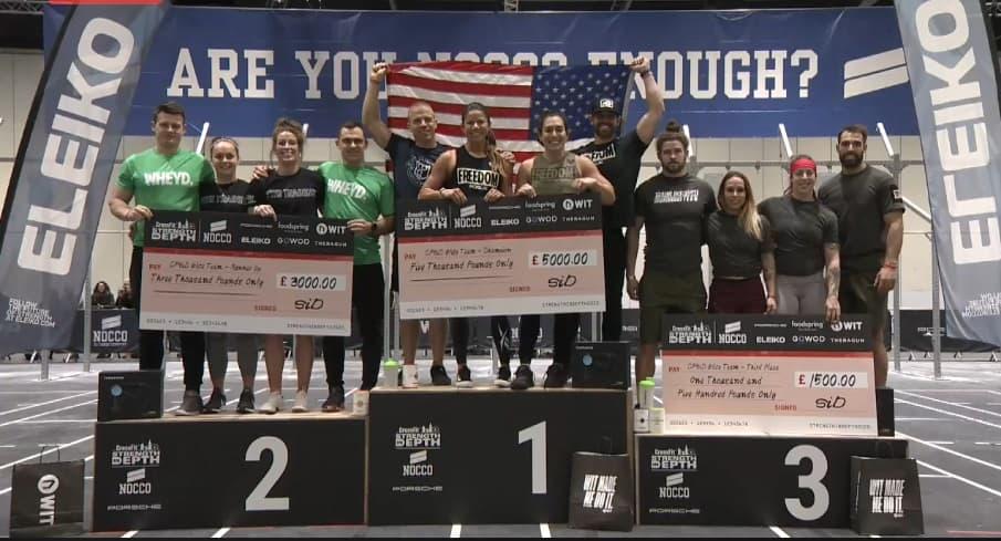 Команды -победители CrossFit Strength in Depth 2020