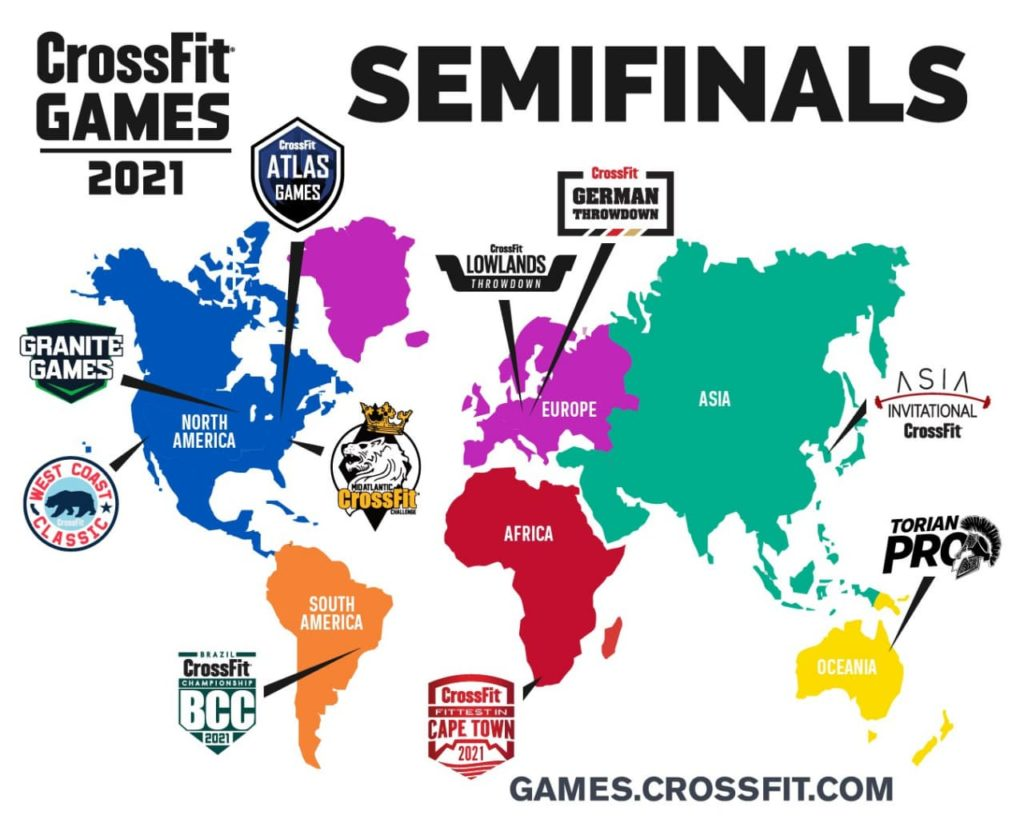 Карта CrossFit Games 2021