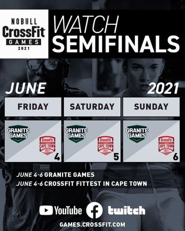 Расписание второй недели полуфинала CrossFit Games