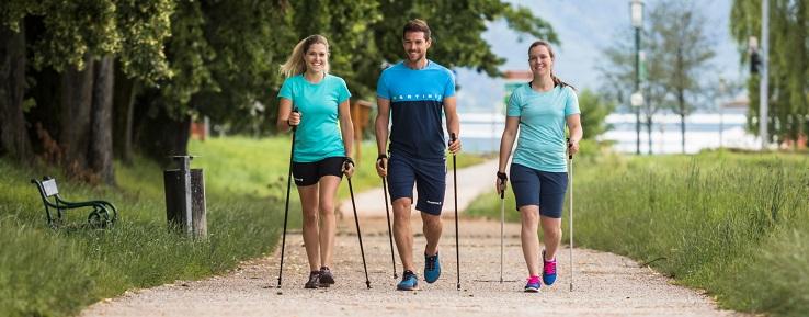 польза нордической ходьбы